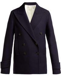 JOSEPH - Optima Wool Blend Pea Coat - Lyst