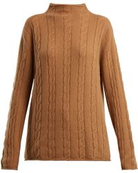 CONNOLLY - High Neck Cable Knit Cashmere Jumper - Lyst
