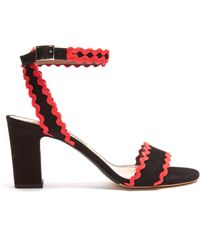Tabitha Simmons - Leticia Ric-rac Trimmed Suede Sandals - Lyst