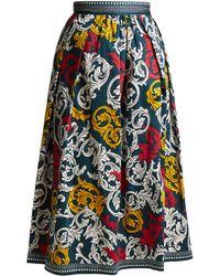 Mary Katrantzou | Bowles High-waist Poplin Skirt | Lyst