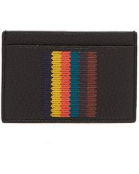 Paul Smith - Bright Stripe Leather Cardholder - Lyst