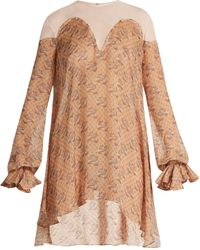 Katie Eary - Snake Print Silk Chiffon Dress - Lyst
