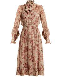 Zimmermann - Unbridled Floral-print Silk-chiffon Dress - Lyst