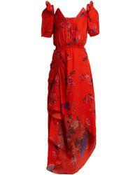 Preen By Thornton Bregazzi - Dana Floral-print Silk-jacquard Dress - Lyst