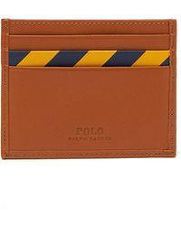 Polo Ralph Lauren - Striped Leather Card Holder - Lyst