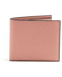 Valextra - Bi-fold Leather Wallet - Lyst