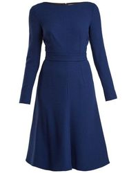 Emilia Wickstead - Kate A-line Wool-crepe Dress - Lyst