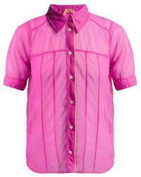 N°21 - Contrast Hem Sheer Shirt - Lyst