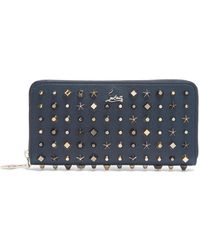 Christian Louboutin - - Panettone Stud Embellished Leather Wallet - Mens - Navy - Lyst