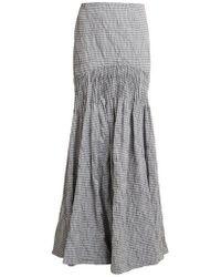Jonathan Simkhai - Smocked Gingham Maxi Skirt - Lyst