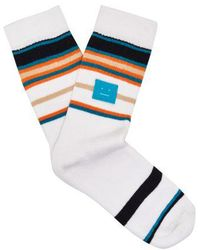 Acne Studios - Striped Stretch-cotton Socks - Lyst