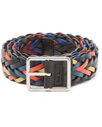 Paul Smith - Reversible Woven-leather Belt - Lyst