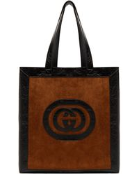 Gucci - Ophidia Large Logo Suede Tote Bag - Lyst