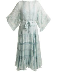 Zimmermann - Whitewave Veil Silk Dress - Lyst