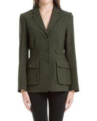 Leon Max - Heathered Wool Herringbone Tailored Jacket - Lyst
