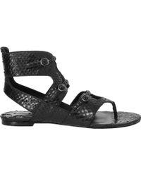 Leon Max - Villa - Grecian Snakeskin Sandals - Lyst