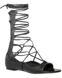 Leon Max - Viper : Soft Nappa Gladiator Wrap Sandals - Lyst