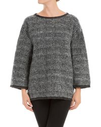 Leon Max - Glen Plaid Knitted Needlepunch Pullover - Lyst