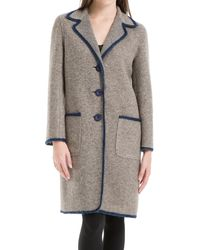 Leon Max - Heathered Boiled Wool Unlined Coat - Lyst