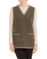 Leon Max - Heathered Wool Needlepunched Vest - Lyst