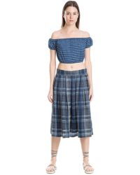 Leon Max - Off-the-shoulder Striped Top - Lyst