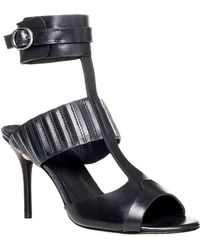 Leon Max - Wonder – Waxed Leather Ankle Wrap Sandals - Lyst