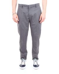 Dondup - Grey Wool Trousers - Lyst