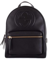 365d5542c Gucci Bamboo Leather Backpack in Black - Lyst