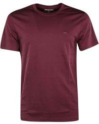 Michael Kors - Burgundy Cotton T-shirt - Lyst