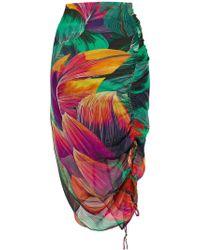Pinko - Floral Print Skirt - Lyst