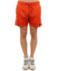83c8ac020c3 Calvin Klein Mens Side Logo Swim Shorts Orange in Orange for Men - Lyst