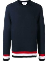 Thom Browne - Blue Cotton Sweater - Lyst