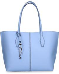 105e74a613e Lyst - Gucci Nylon Guccissima Light Tote in Blue