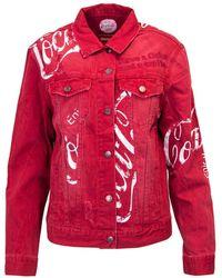 Desigual - Red Cotton Jacket - Lyst