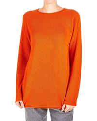 JOSEPH - Orange Cashmere Sweater - Lyst