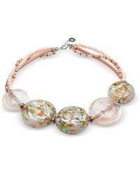 Antica Murrina - Pink Other Materials Bracelet - Lyst