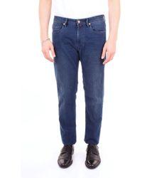 ca238ea2355 Incotex Denim Chino Trousers in Blue for Men - Lyst