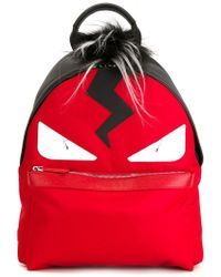 Fendi - Red Leather Backpack - Lyst