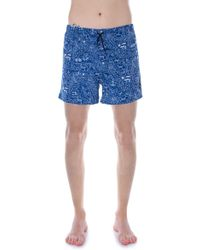 Only & Sons Blue Polyester Trunks