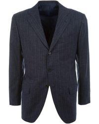 Kiton - Blue Cashmere Blazer - Lyst