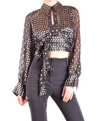 78376b9c7af Diane von Furstenberg Mariah Long-sleeve Lace Blouse in Black - Lyst