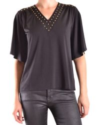 Michael Kors - Black Polyester Top - Lyst