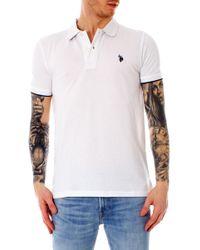 U.S. POLO ASSN. White Cotton Polo Shirt
