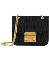 Furla - Black Viscose Shoulder Bag - Lyst