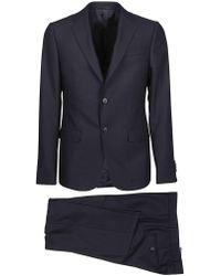 Z Zegna - Black Wool Dress - Lyst