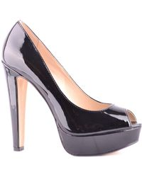 online store 3c166 891ea Steve Madden Sonillo Pointed Toe Cut-out Pumps in Black - Lyst