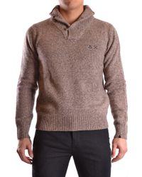 Sun 68 - Beige Wool Sweater - Lyst