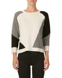 Woolrich - White/black Wool Jumper - Lyst