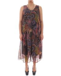 Elena Miro - Multicolour Viscose Dress - Lyst