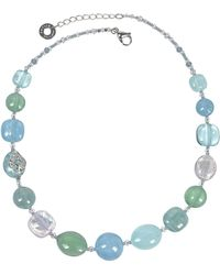 Antica Murrina - Light Blue Steel Necklace - Lyst